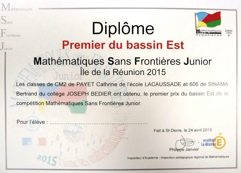 Diplome bassin ESt