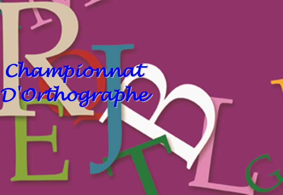 Championnat d'orthographe1